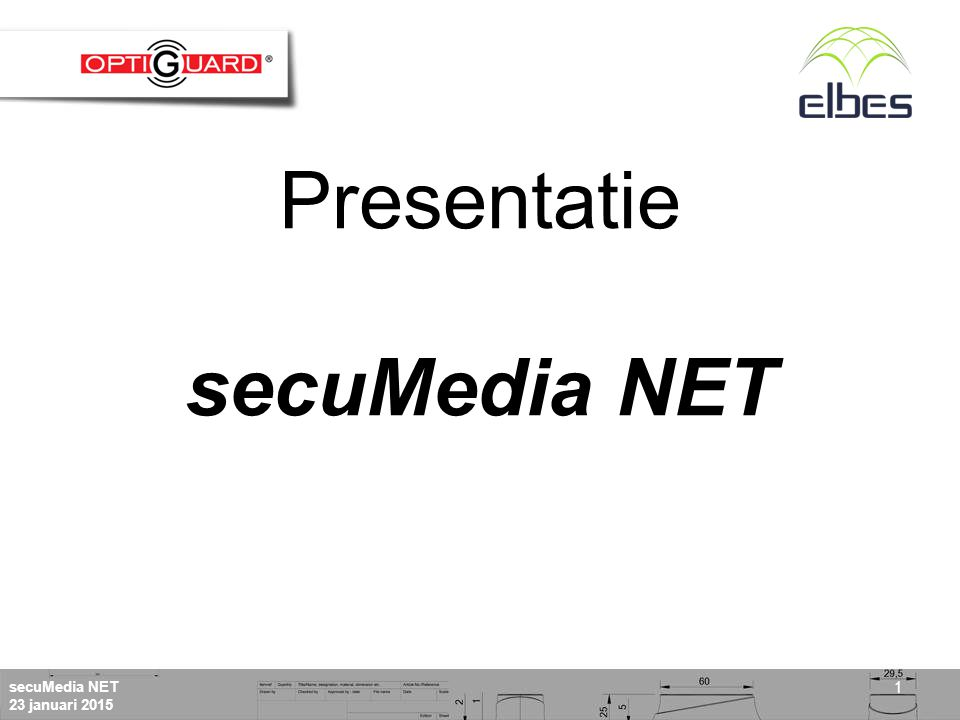 secuMedia NET 23 januari 2015 1 Presentatie secuMedia NET