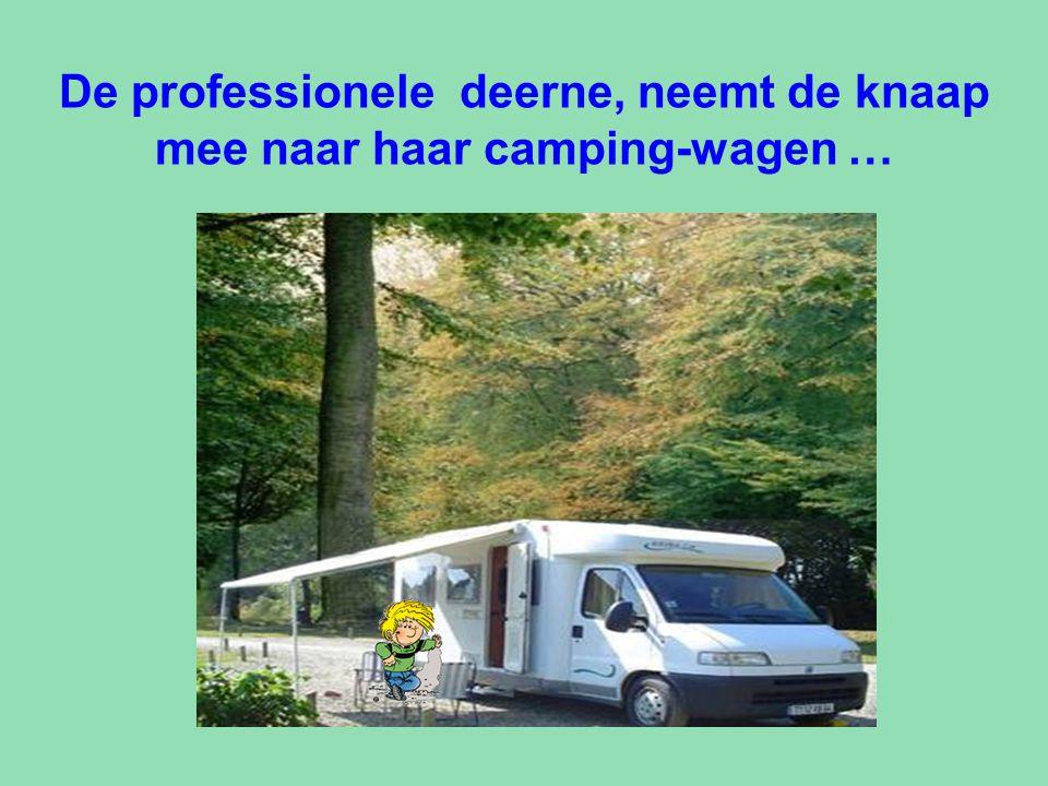 De professionele deerne, neemt de knaap mee naar haar camping-wagen …