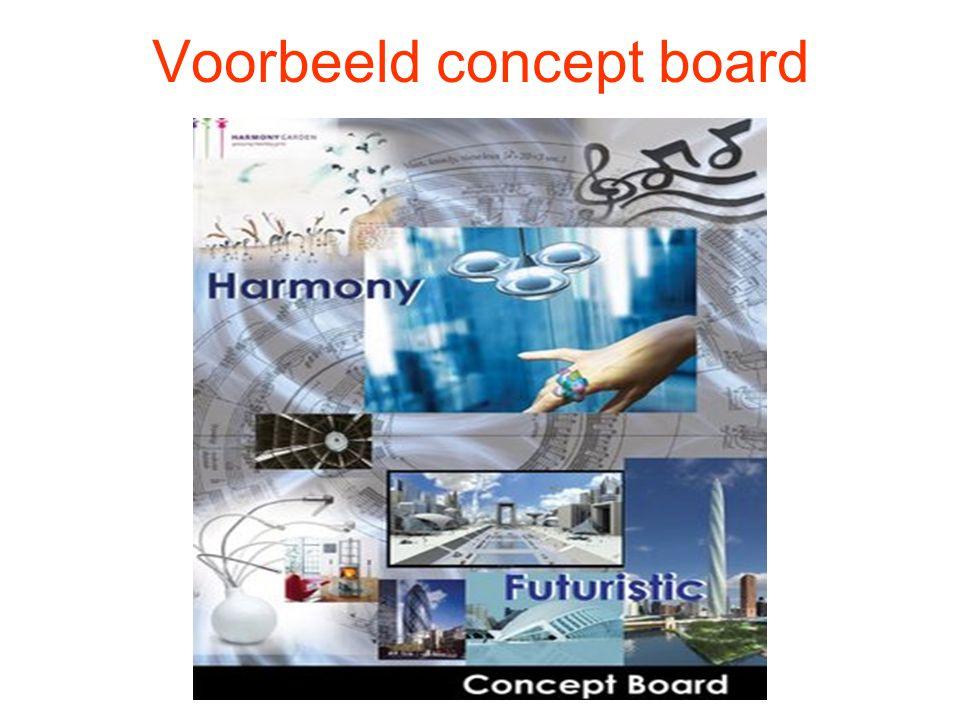 Voorbeeld concept board