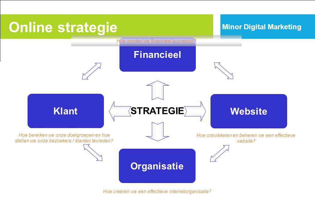 Klant Financieel Website Organisatie STRATEGIE Hoe worden we financieel succesvol.