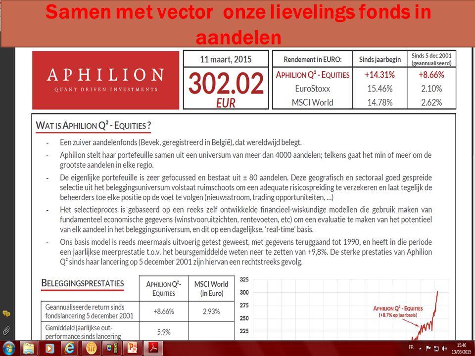 14/04/2015 30 Samen met vector onze lievelings fonds in aandelen