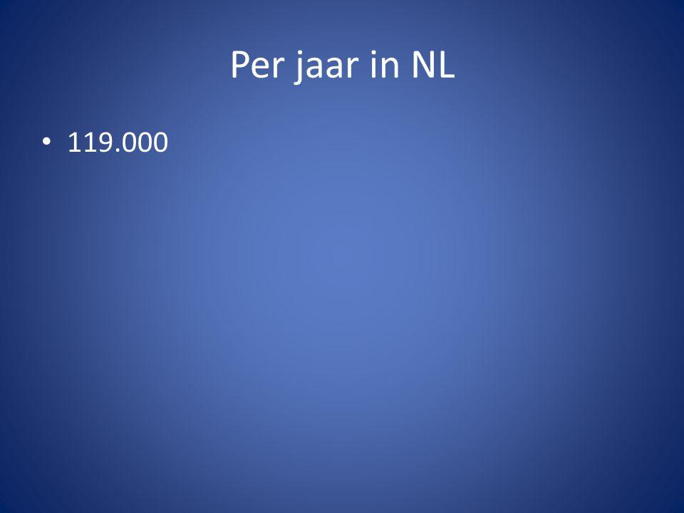 Per jaar in NL 119.000