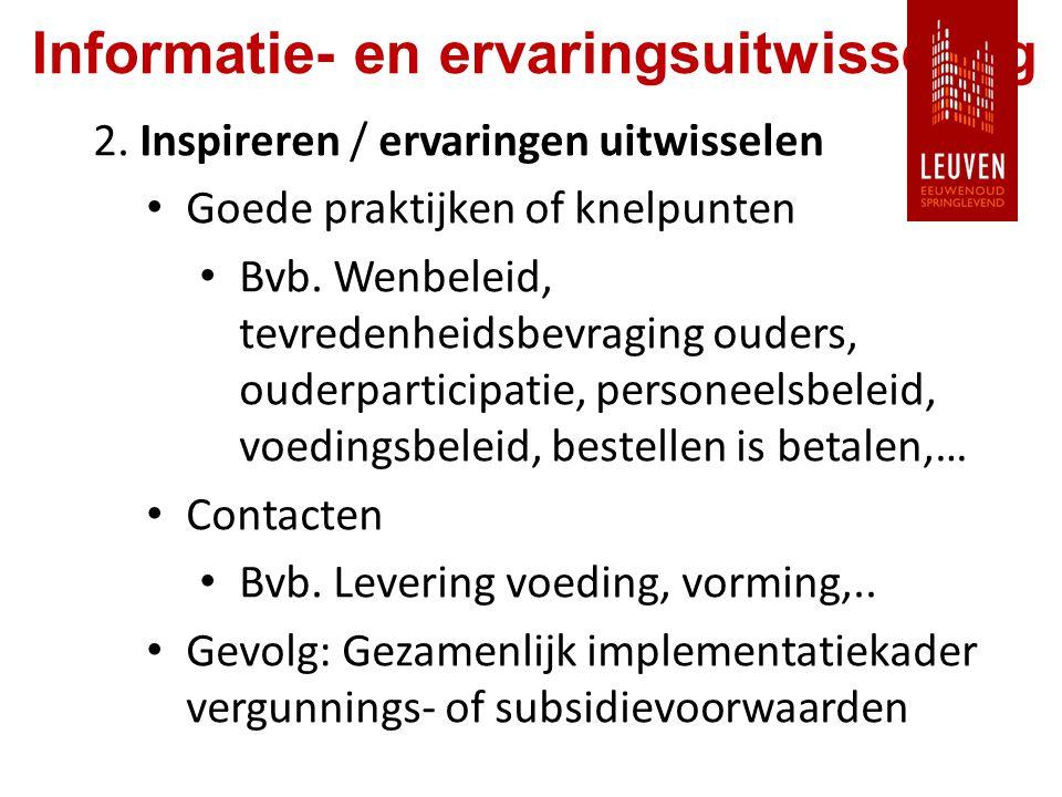 Informatie- en ervaringsuitwisseling 2.