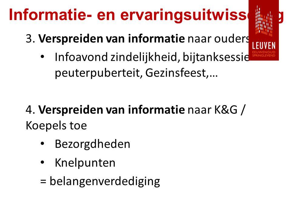 Informatie- en ervaringsuitwisseling 3.