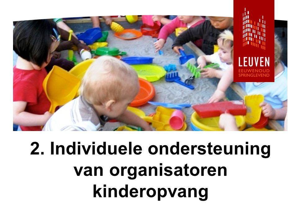 2. Individuele ondersteuning van organisatoren kinderopvang
