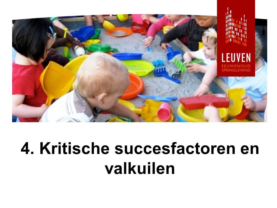 4. Kritische succesfactoren en valkuilen