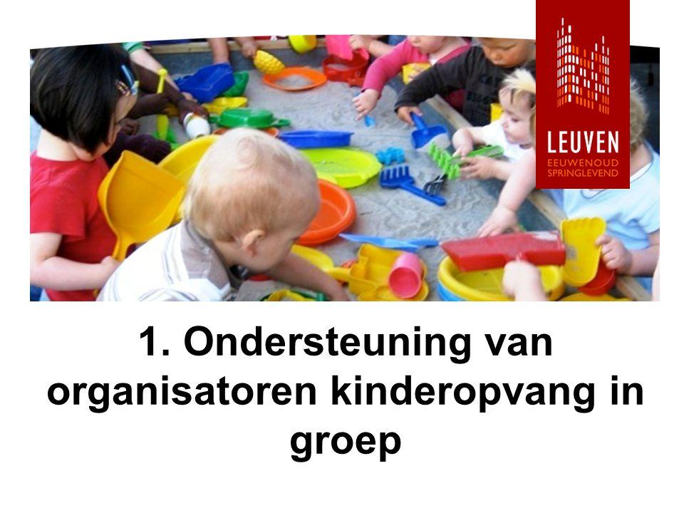 1. Ondersteuning van organisatoren kinderopvang in groep