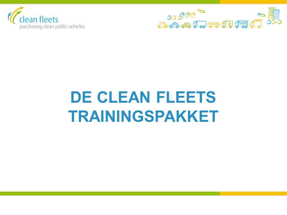 DE CLEAN FLEETS TRAININGSPAKKET