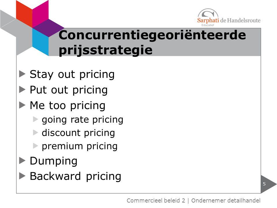 6 Voorbeelden concurrentie georiënteerde prijsstrategie Commercieel beleid 2 | Ondernemer detailhandel