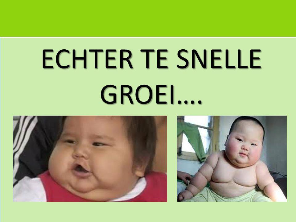 Snelle groei na geboorte tot 2 jaar: associatie met overgewicht later in 4235 kinderen in Duitseland Koletzko B et al.