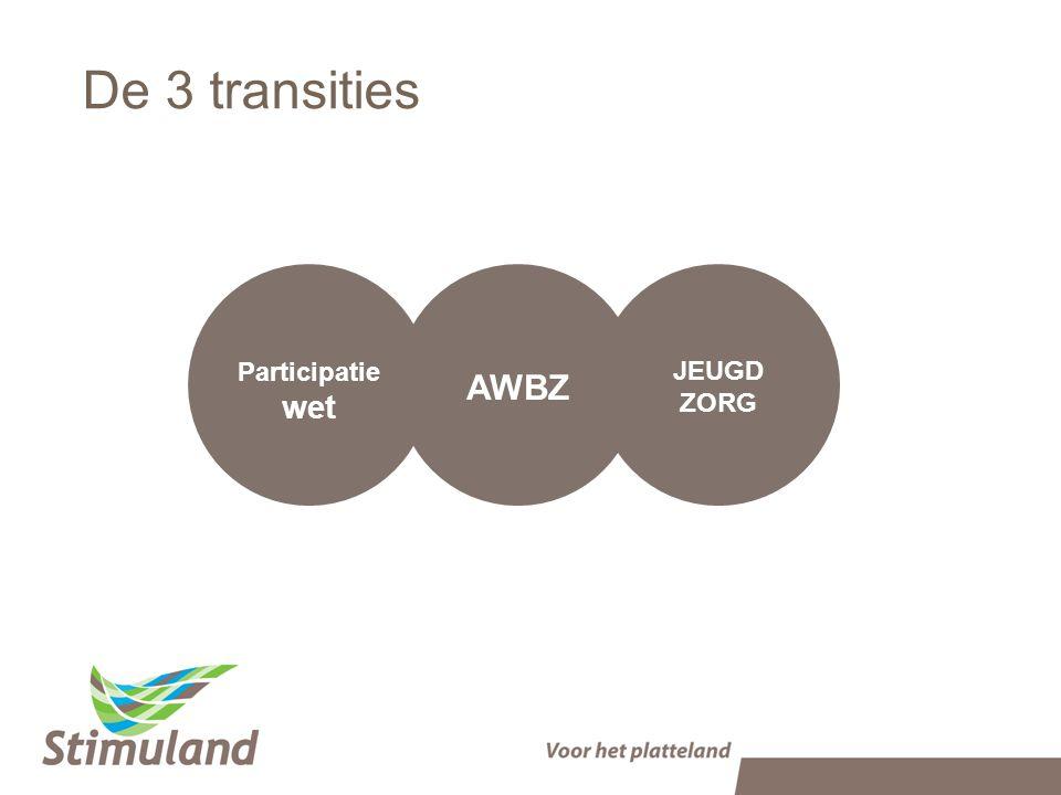 Participatie wet De 3 transities JEUGD ZORG AWBZ