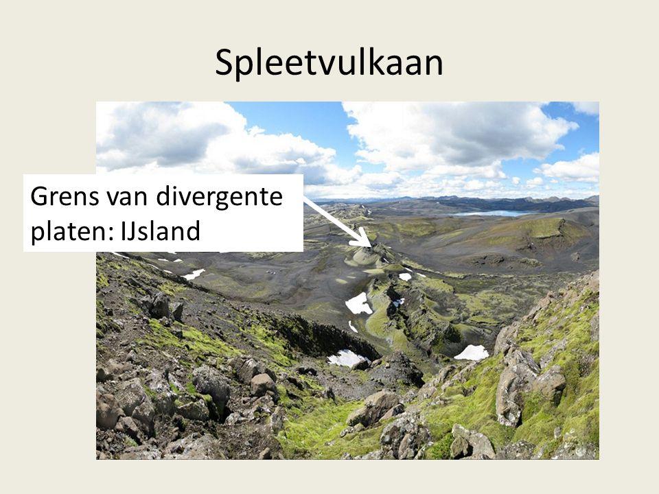 Spleetvulkaan Grens van divergente platen: IJsland