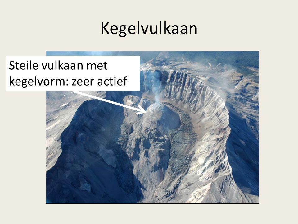 Kegelvulkaan Steile vulkaan met kegelvorm: zeer actief