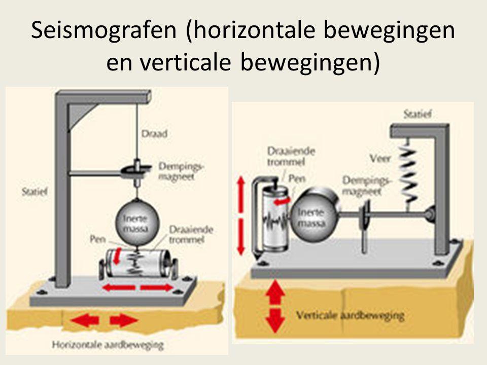 Seismografen (horizontale bewegingen en verticale bewegingen)