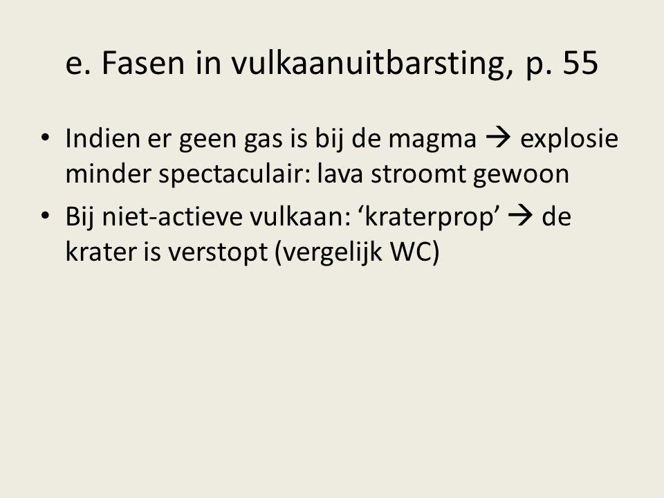1.In de magmakamer komt nieuwe magma = grote druk 2.