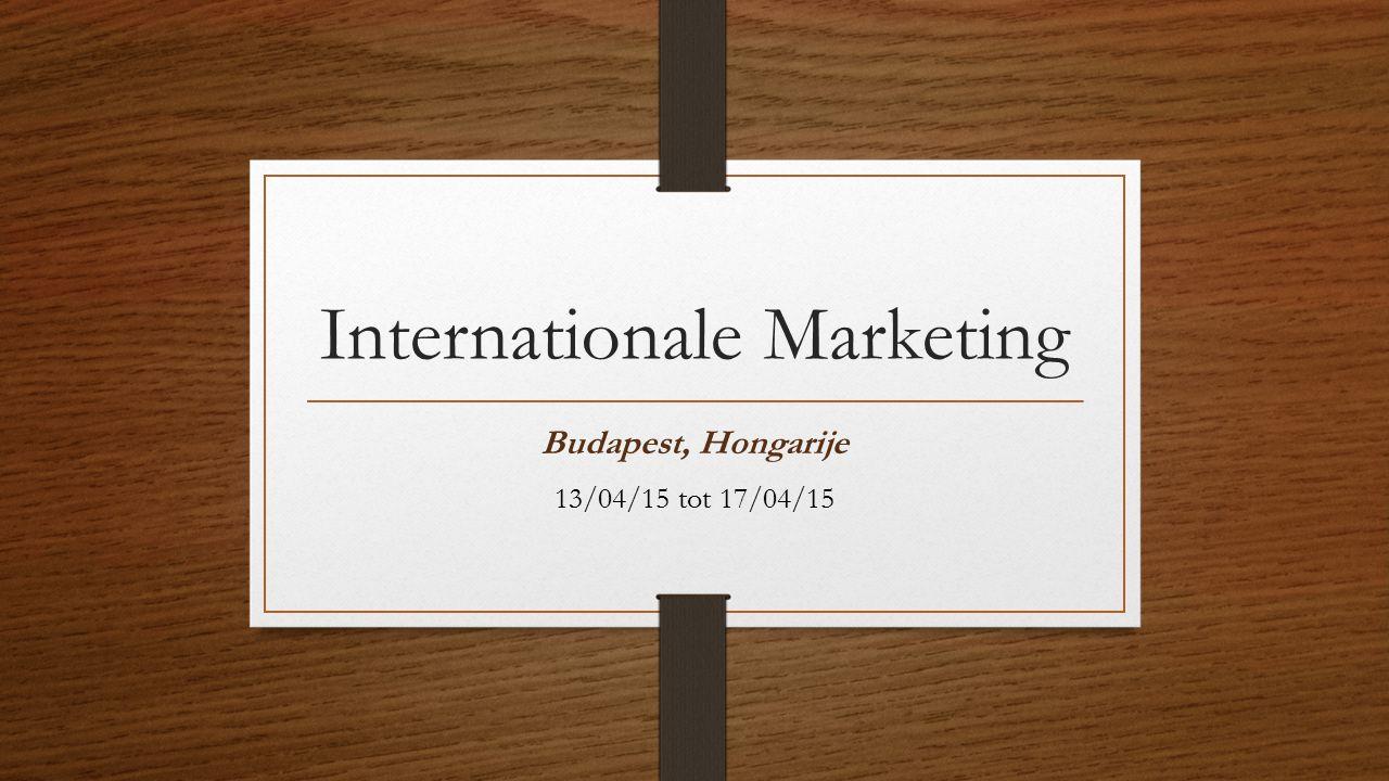Internationale Marketing Budapest, Hongarije 13/04/15 tot 17/04/15