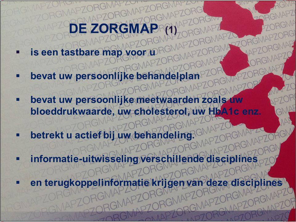 GEÏNTEGREERDE EERSTELIJNS ZORG ZORG OP MAAT  is een tastbare map voor u  bevat uw persoonlijke behandelplan  bevat uw persoonlijke meetwaarden zoal