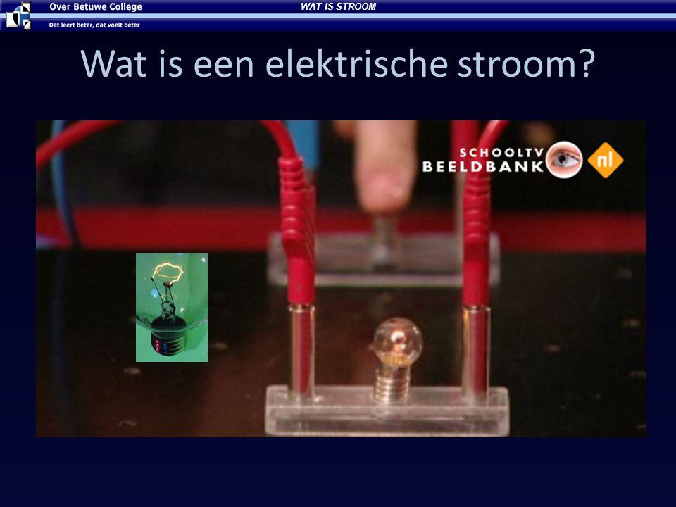 Wat is een elektrische stroom? WAT IS STROOM