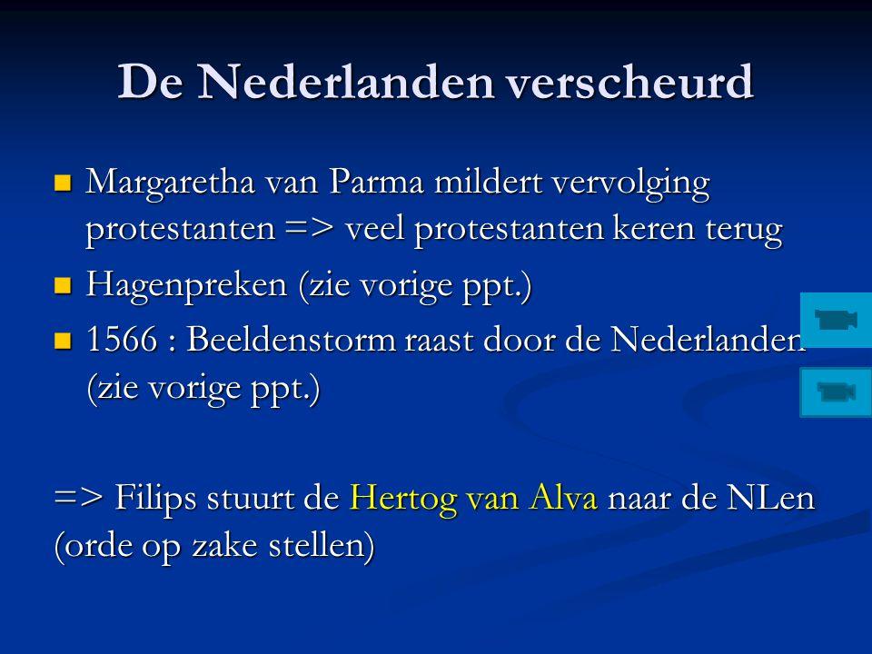 Eedverbond der Edelen (1565) Nederlandse edelen vragen aan de landvoogdes Margareta om de plakkaten (tegen ketters) te verzachten omdat ze een economi