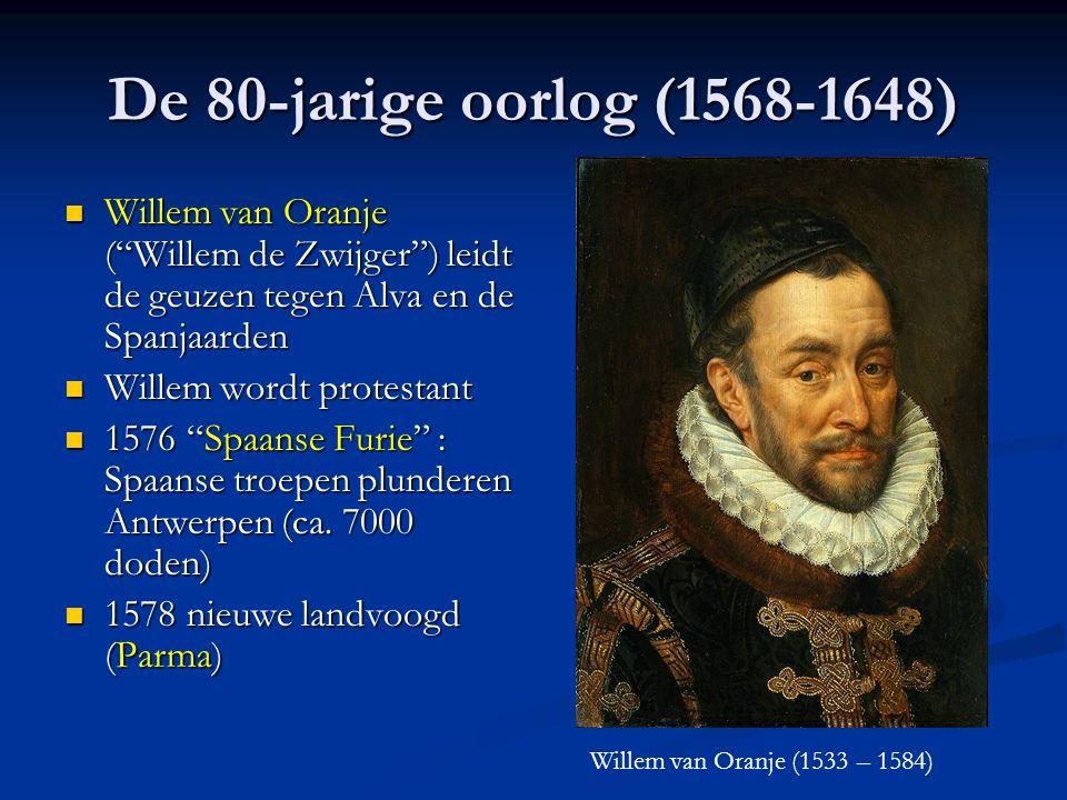 Raad van Beroerten Door Alva ingesteld in 1567 Bijzondere rechtbank om de Beelden- stormers te veroordelen 1000-tal terechtstellingen (o.a. de Graven