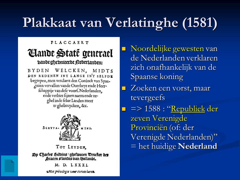 Unie van Utrecht (1579) Reactie op de Unie van Atrecht Noordelijke gewesten vormen een unie om samen tegen de Spanjaarden te strijden Ook delen van he