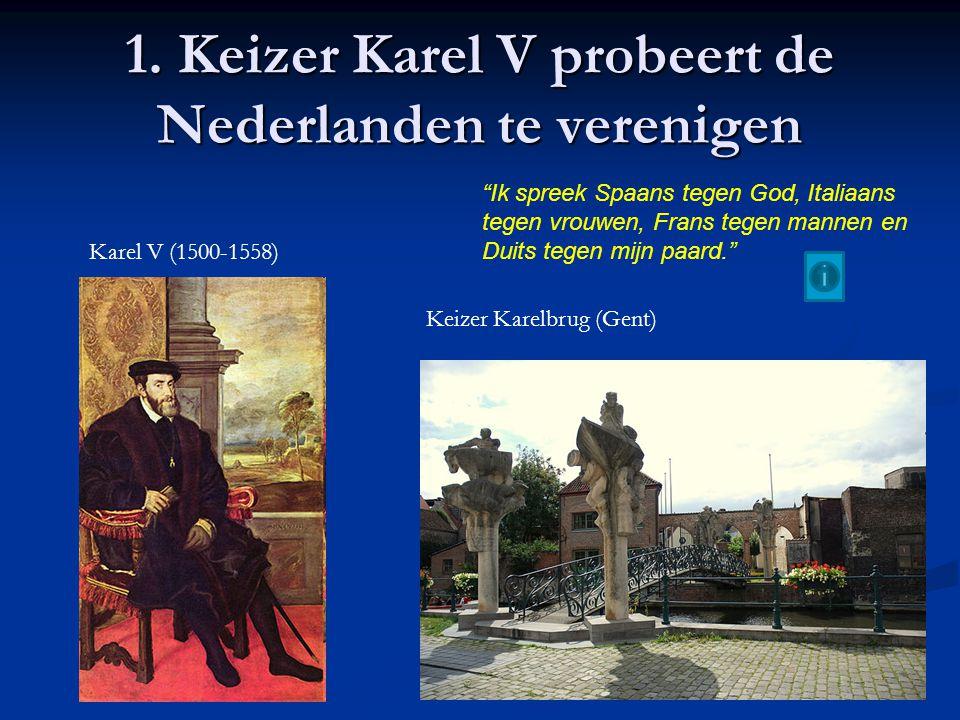 Unie van Utrecht (1579) Reactie op de Unie van Atrecht Noordelijke gewesten vormen een unie om samen tegen de Spanjaarden te strijden Ook delen van het huidige België behoren tot de Unie van Utrecht