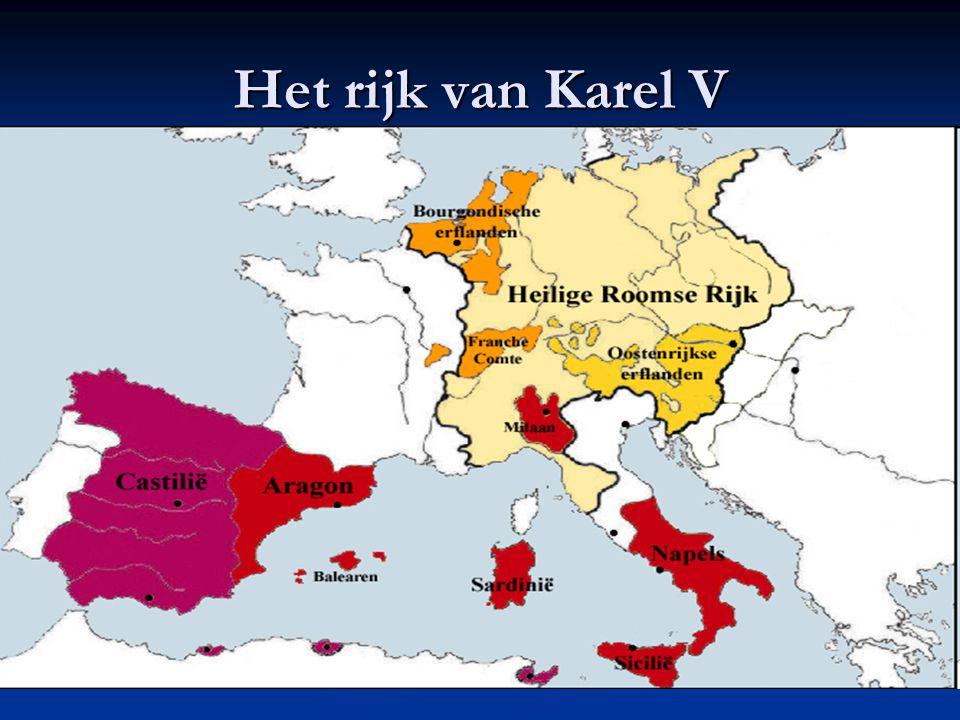 """1. Keizer Karel V probeert de Nederlanden te verenigen Karel V (1500-1558) Keizer Karelbrug (Gent) """"Ik spreek Spaans tegen God, Italiaans tegen vrouwe"""