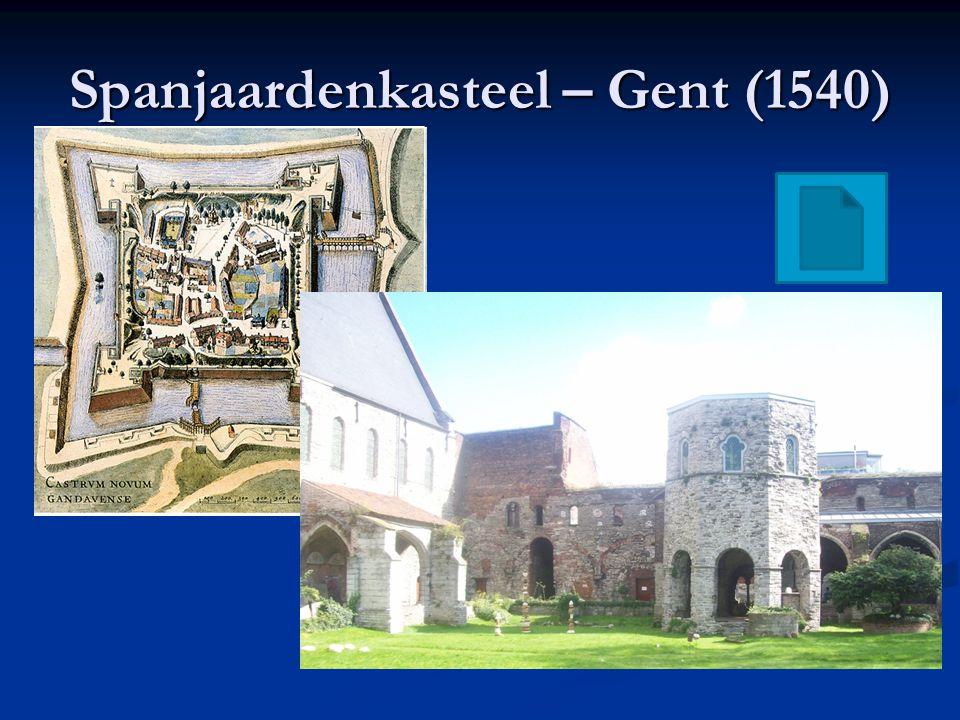De 80-jarige oorlog (1568-1648) Willem van Oranje ( Willem de Zwijger ) leidt de geuzen tegen Alva en de Spanjaarden Willem van Oranje ( Willem de Zwijger ) leidt de geuzen tegen Alva en de Spanjaarden Willem wordt protestant Willem wordt protestant 1576 Spaanse Furie : Spaanse troepen plunderen Antwerpen (ca.