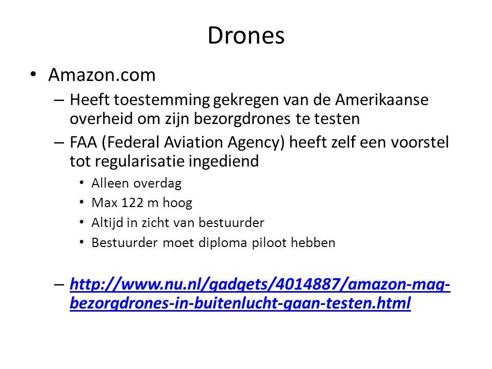 Drones Amazon.com – Heeft toestemming gekregen van de Amerikaanse overheid om zijn bezorgdrones te testen – FAA (Federal Aviation Agency) heeft zelf e