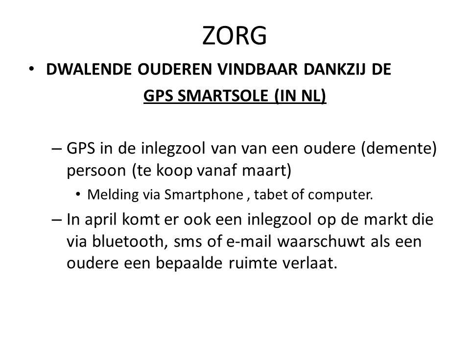 ZORG DWALENDE OUDEREN VINDBAAR DANKZIJ DE GPS SMARTSOLE (IN NL) – GPS in de inlegzool van van een oudere (demente) persoon (te koop vanaf maart) Meldi