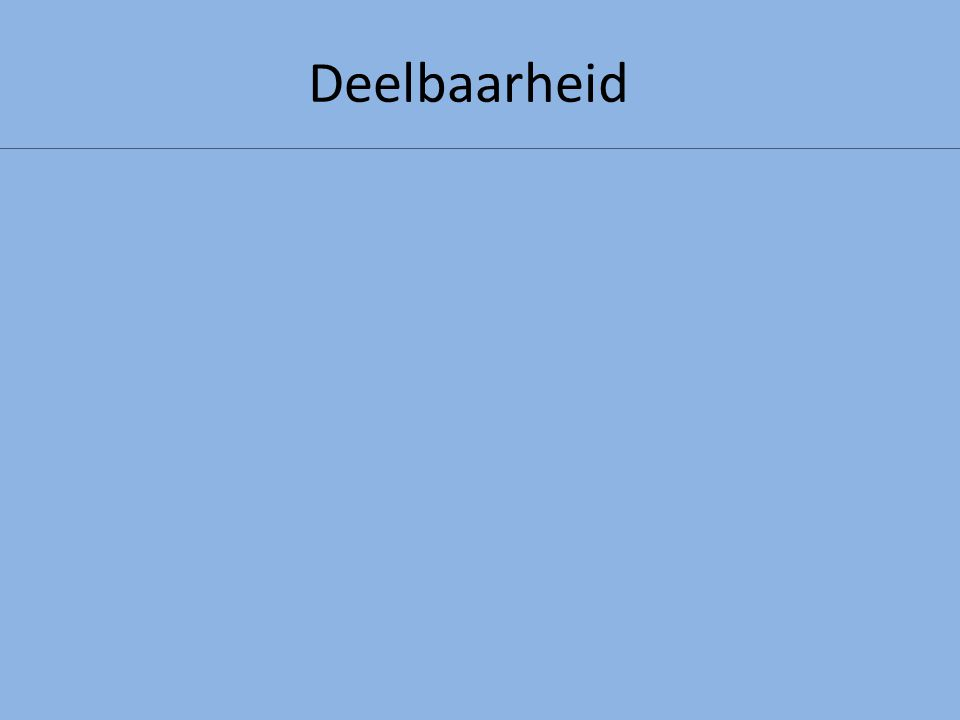 Deelbaarheid Een getal is deelbaar door 100 als het eindigt op: