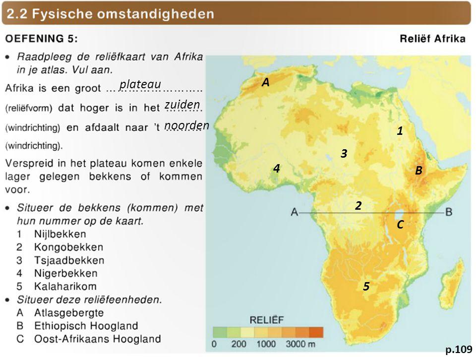 plateau zuiden noorden 1 2 3 4 5 A B C p.109