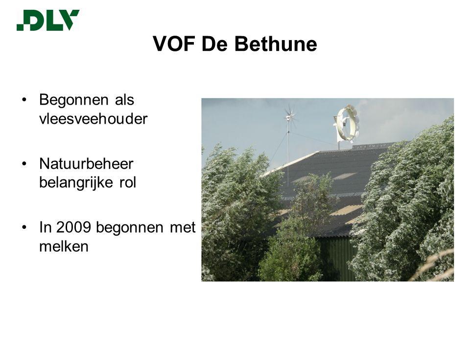 VOF De Bethune Begonnen als vleesveehouder Natuurbeheer belangrijke rol In 2009 begonnen met melken