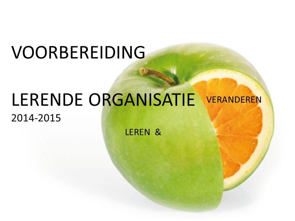 VOORBEREIDING LERENDE ORGANISATIE 2014-2015 LEREN & VERANDEREN