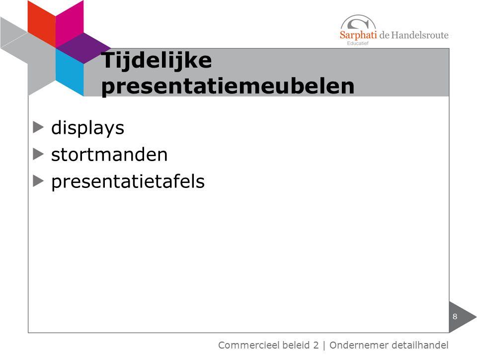 displays stortmanden presentatietafels 8 Tijdelijke presentatiemeubelen Commercieel beleid 2   Ondernemer detailhandel