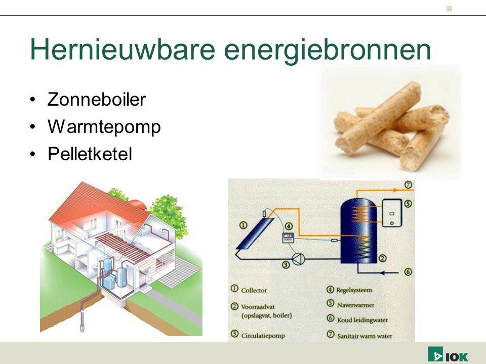 Hernieuwbare energiebronnen Zonneboiler Warmtepomp Pelletketel