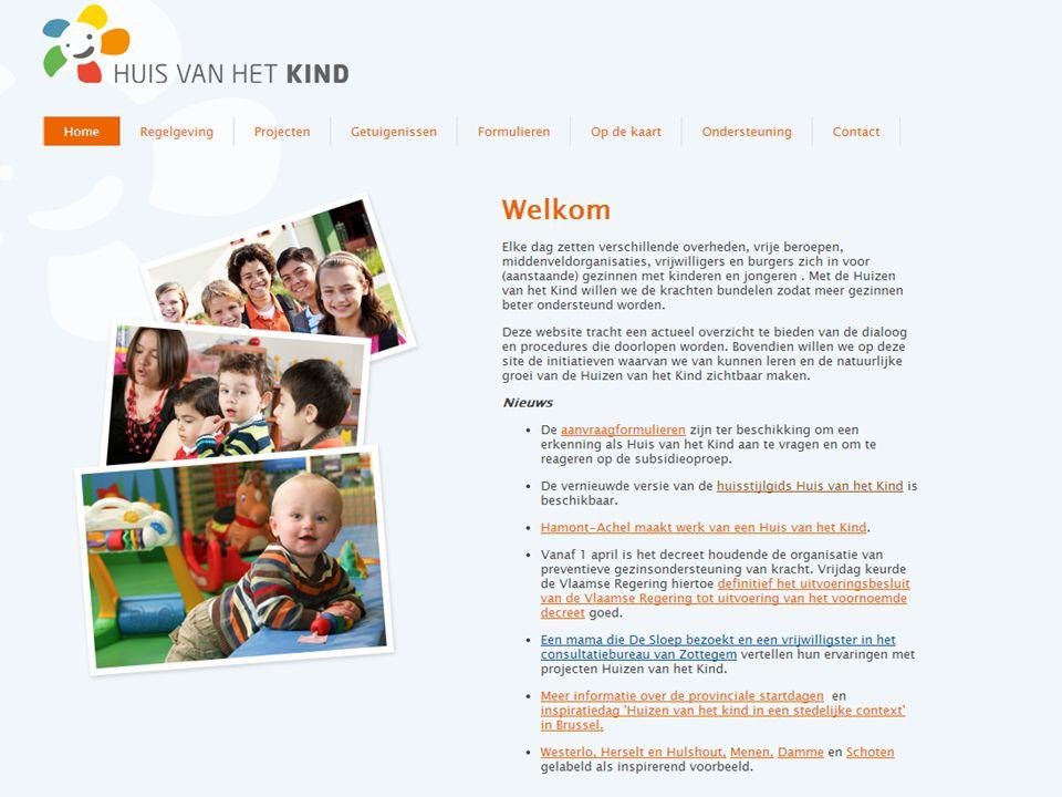 Ondersteuning Huizen van het Kind