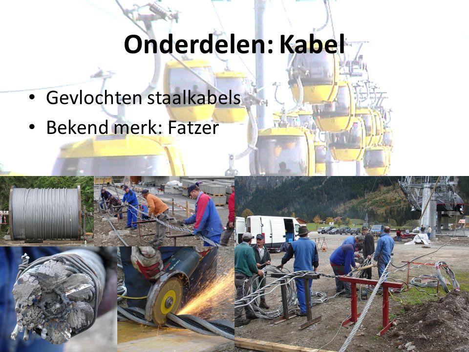 Onderdelen: Kabel Gevlochten staalkabels Bekend merk: Fatzer