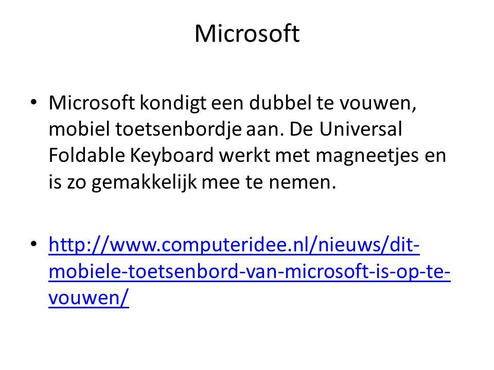 Microsoft Microsoft kondigt een dubbel te vouwen, mobiel toetsenbordje aan.