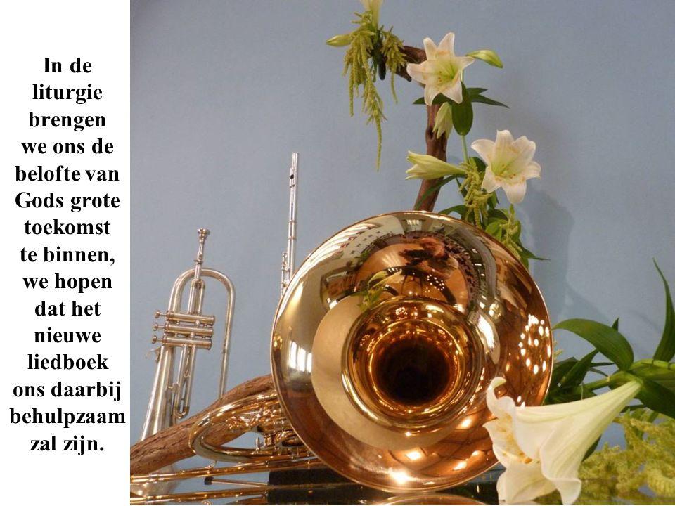 In de liturgie brengen we ons de belofte van Gods grote toekomst te binnen, we hopen dat het nieuwe liedboek ons daarbij behulpzaam zal zijn.