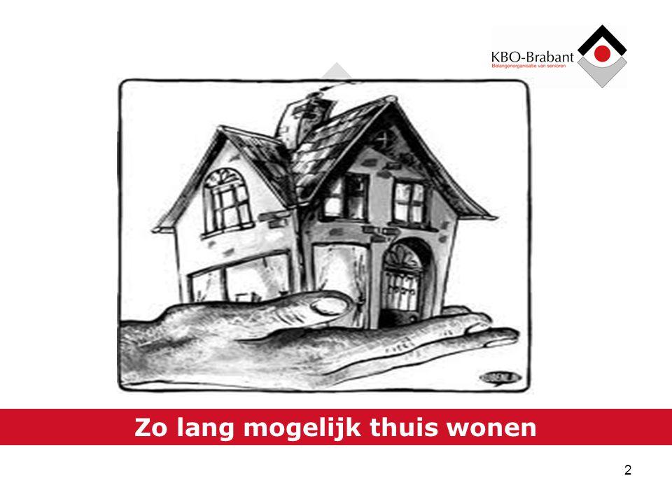 Langer thuis wonen en de zorg in Nederland 1 Zorgen voor ZORG
