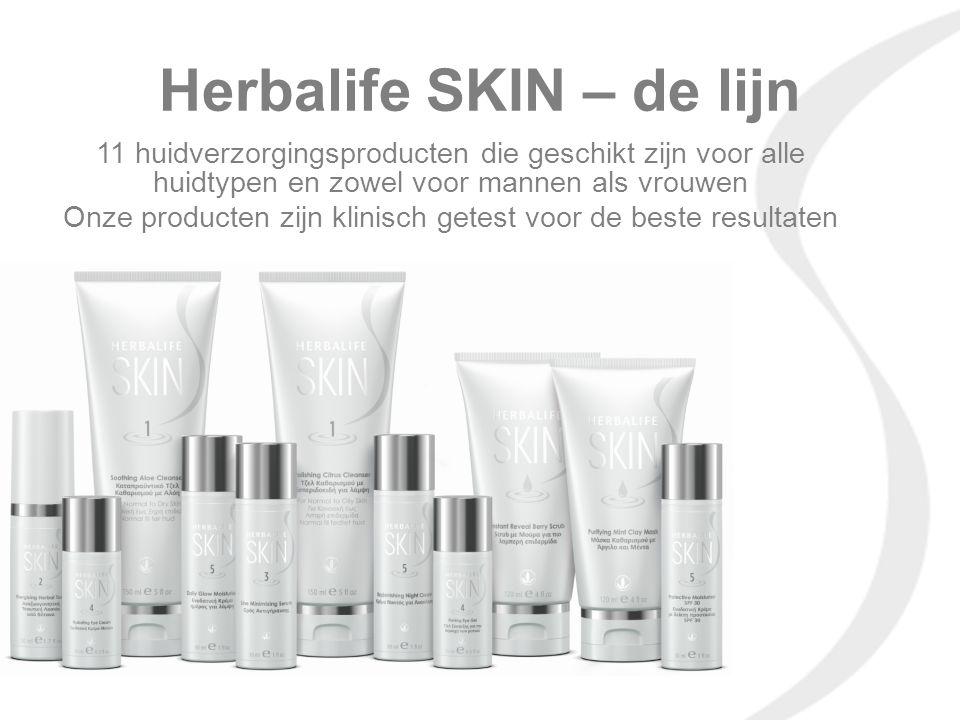 Herbalife SKIN – de lijn 11 huidverzorgingsproducten die geschikt zijn voor alle huidtypen en zowel voor mannen als vrouwen Onze producten zijn klinis