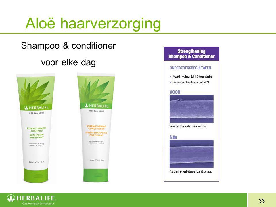 33 Aloë haarverzorging Shampoo & conditioner voor elke dag