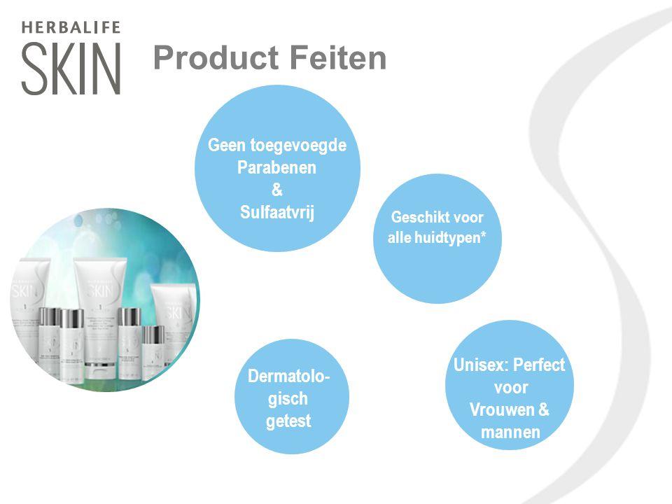 Product Feiten Unisex: Perfect voor Vrouwen & mannen Geschikt voor alle huidtypen* Dermatolo- gisch getest Geen toegevoegde Parabenen & Sulfaatvrij