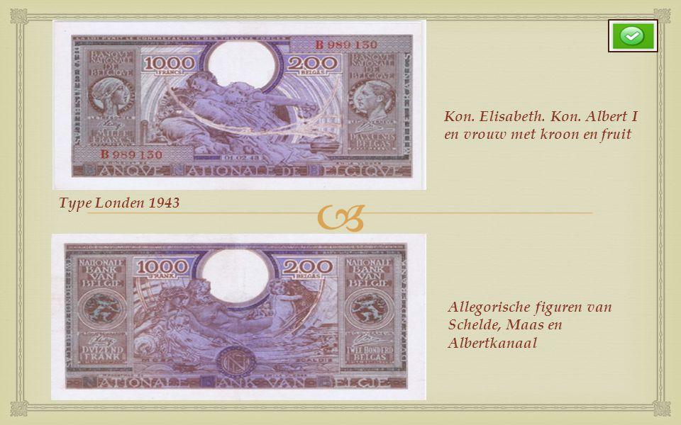  Type 1919 (1939-1944) periode uitgifte data Portret Koning Albert I en Kon. Elisabeth en een allegorisch(symbolisch) figuur Kantwerkster en de stads