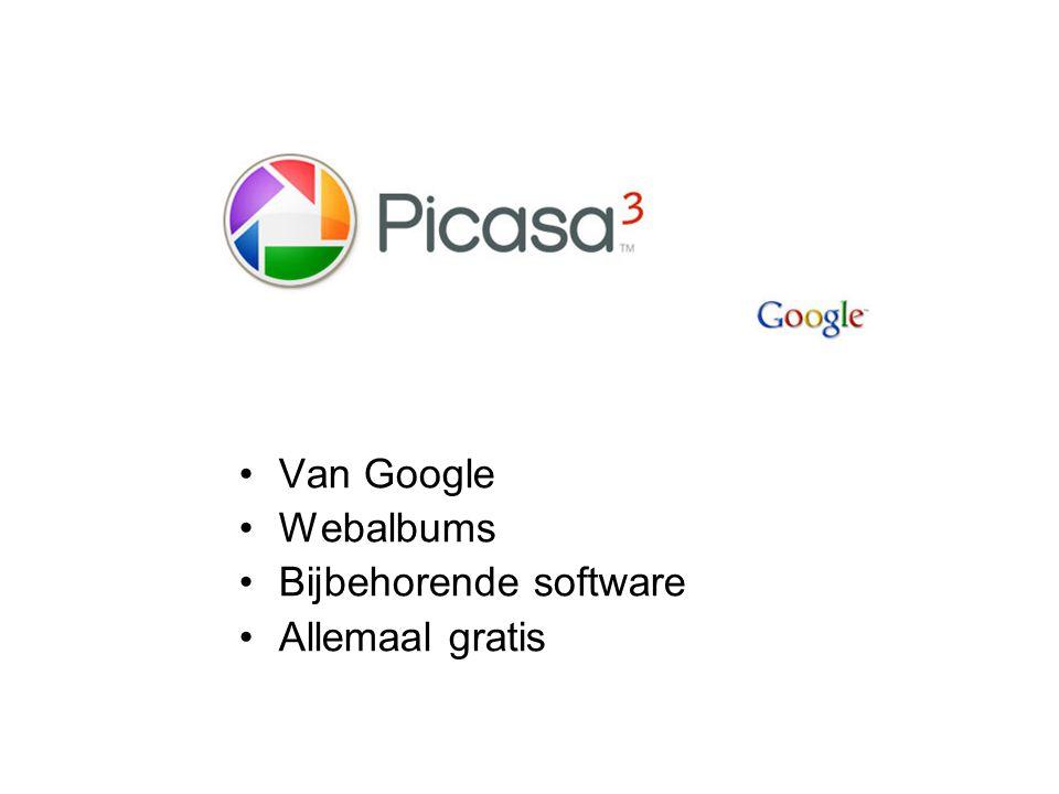 Van Google Webalbums Bijbehorende software Allemaal gratis