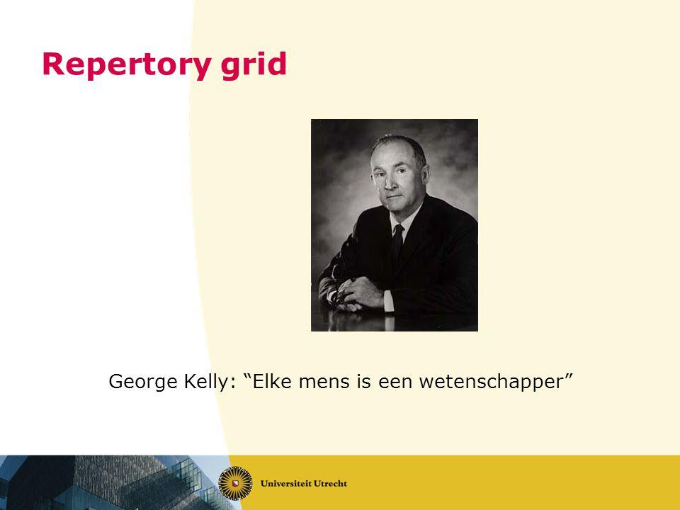"Repertory grid George Kelly: ""Elke mens is een wetenschapper"""