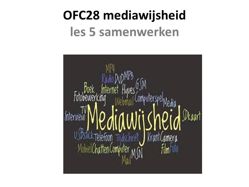 OFC28 mediawijsheid les 5 samenwerken