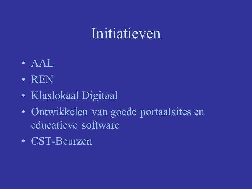 Initiatieven AAL REN Klaslokaal Digitaal Ontwikkelen van goede portaalsites en educatieve software CST-Beurzen