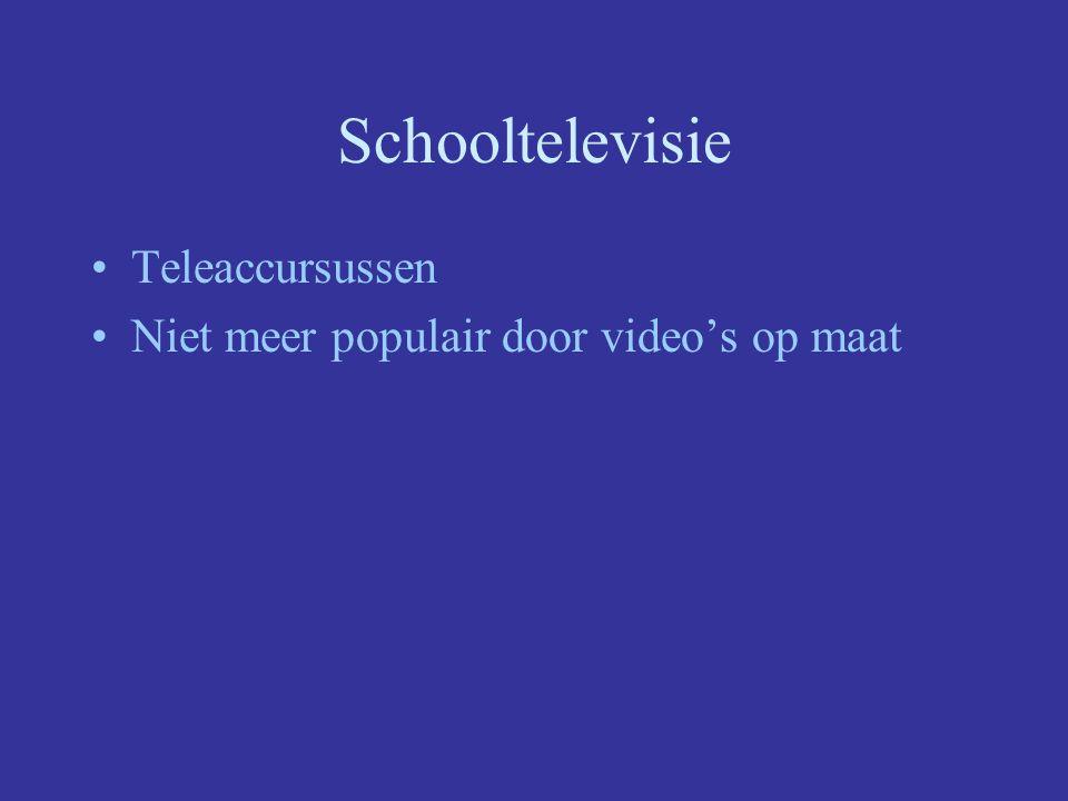 Schooltelevisie Teleaccursussen Niet meer populair door video's op maat